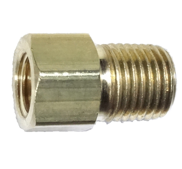 brass female flare with male pipe adapter