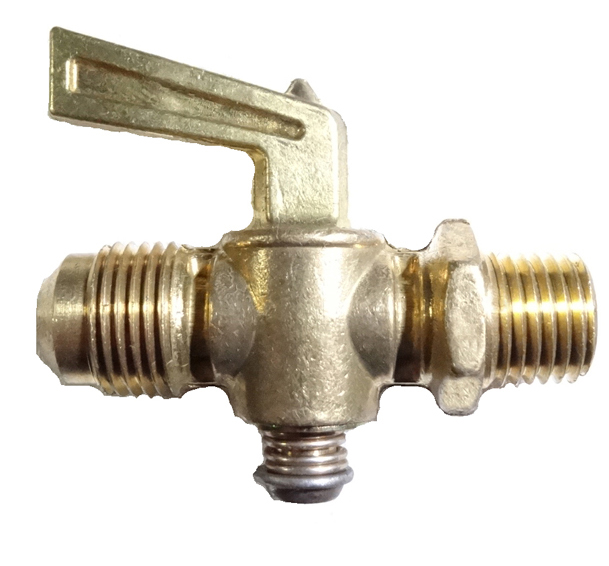 brass shut-off cock flare and male pipe
