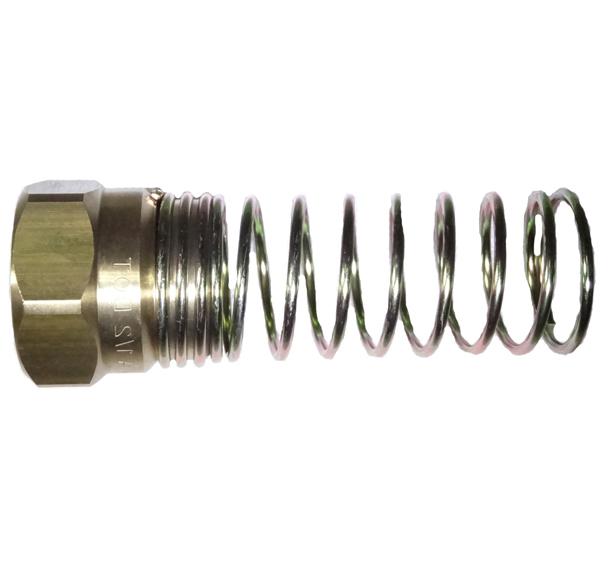 brass air brake hose nut with spring guard