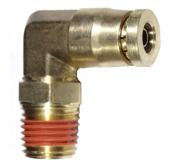 brass push connect DOT swivel male elbow