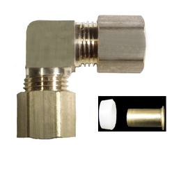 brass compression union elbow plastic sleeve