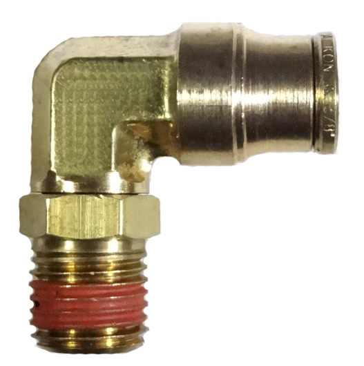 brass push connect swivel male elbow